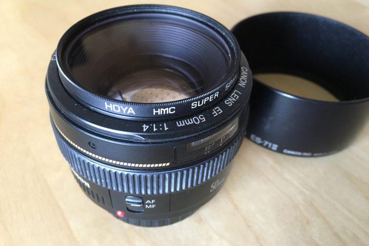 Prodám objektiv Canon EF 50mm f/1,4 USM