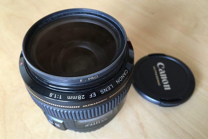Prodám objektiv Canon EF 28mm f/1,8 USM